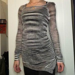 Rock & Republic Mesh Tunic Sweater
